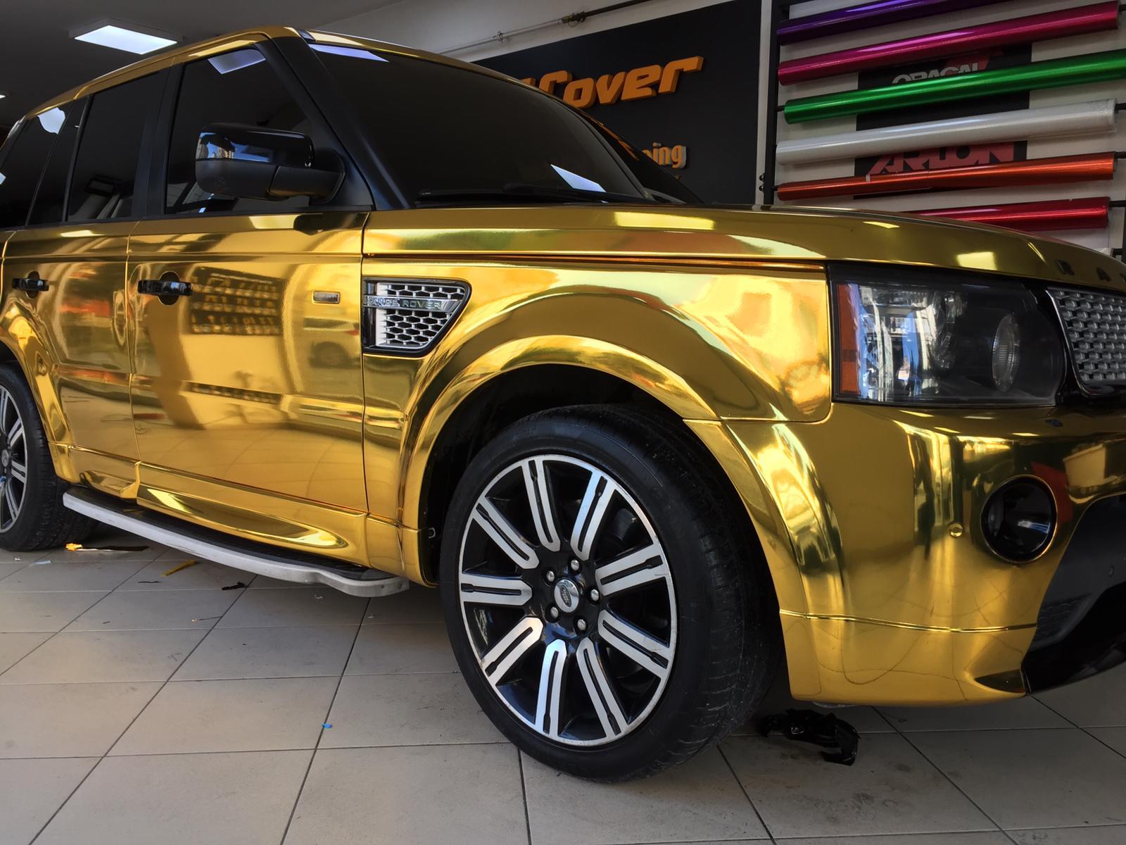 Gold Krom araç kaplama