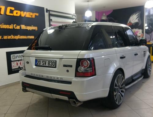 Range Rover Sport ( İnci Beyazı Araç Kaplama )