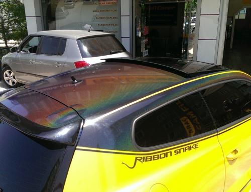 VW Scirocco ( Sarı – Siyah Araç Kaplama)