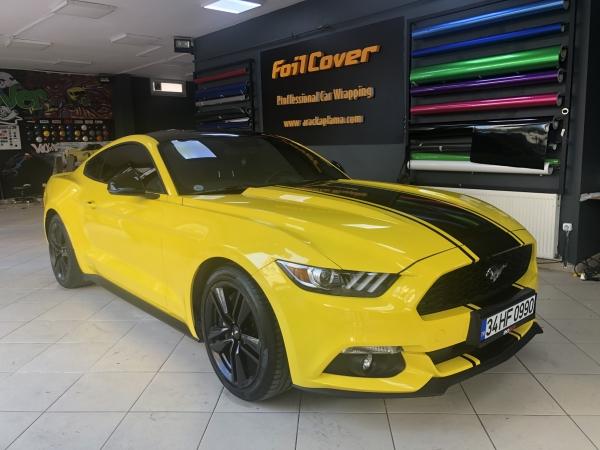 ford mustang sarı araç kaplama araç kaplama fiyatları 2019 foil cover araç kaplama