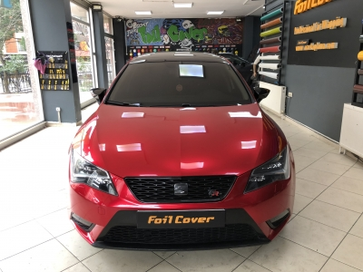 seat leon şeker kırmızı araç kaplama fiyatları 2019 foil cover araç kaplama
